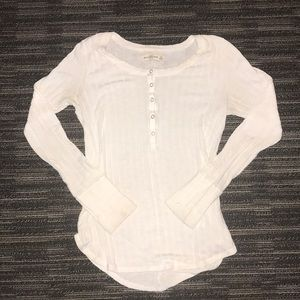 White Long Sleeve Abercrombie and Fitch Shirt